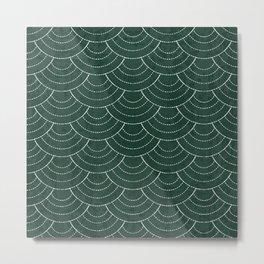 Green sashiko Metal Print