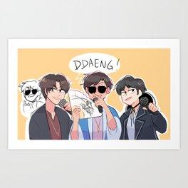 bts: DDAENG! Art Print