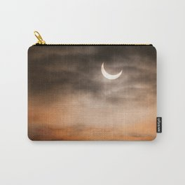 Partial solar eclipse and clouds morning sky Carry-All Pouch