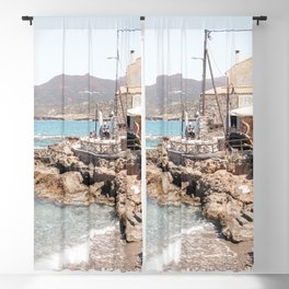 Beach Landscape In Greece Photo | Turquoise Blue Sea Art Print | Europe Travel Photography Blackout Curtain