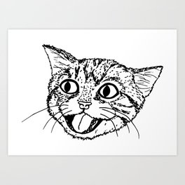 Just Kitten (no text) Art Print