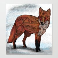 jon snow Canvas Prints featuring Red Fox by Ben Geiger