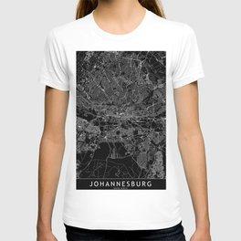 Johannesburg Black Map T-shirt