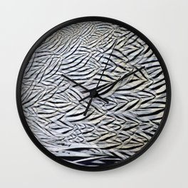 Silver Pheasant Feather Detail Wall Clock