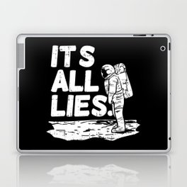 Moon Landing Conspiracy Theory Fake Illuminati Shirt & Gift Laptop & iPad Skin