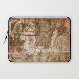 Vintage & Shabby Chic - Victorian ladies pattern Laptop Sleeve