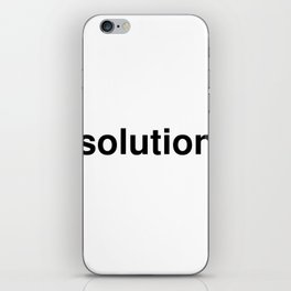 solution iPhone Skin