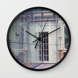 Restoration Behind Glass Wall Clock