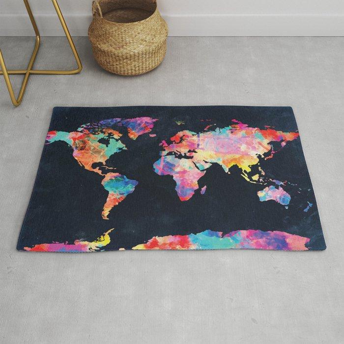 World Map Rug By Bekimart