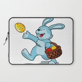 rabbit with Easter basket Laptop Sleeve