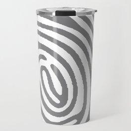 PRINTED GREY Travel Mug