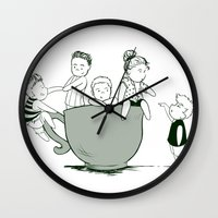 1d Wall Clocks featuring Teaucp 1D by allthreeplease
