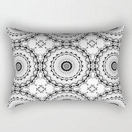 Black-and-white kaleidoscope . Rectangular Pillow