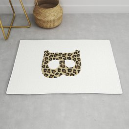 Letter B Leopard Cheetah Monogram Initial Rug