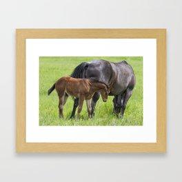 By Mother's Side Framed Art Print