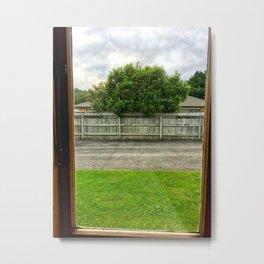 Driveway Through The Window Metal Print