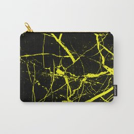 Yellow Marble Pattern - Abstract, black and yellow Carry-All Pouch
