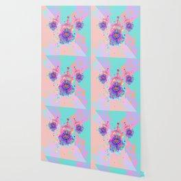Colorful Watercolor Flower Wallpaper