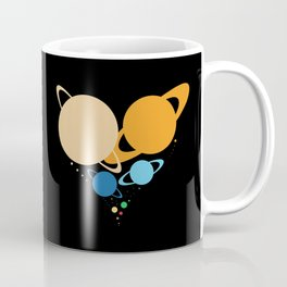 Solar System Heart (to scale) Coffee Mug
