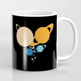 Solar System Heart (to scale) Coffee Mug