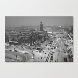 Finland City (Black and White) Canvas Print
