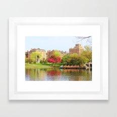 Swan boats Framed Art Print