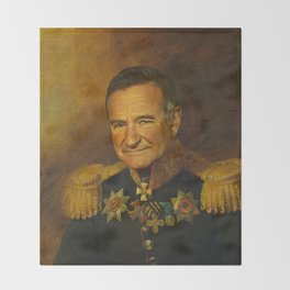Robin Williams - replaceface Throw Blanket