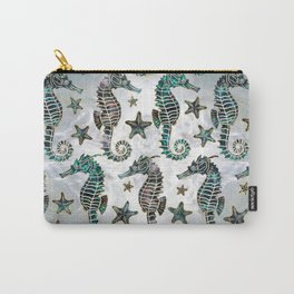 Sea horse Starfish Abalone Pattern Carry-All Pouch