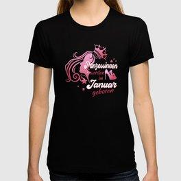 Prinzessin im Januar geboren Mädchen Geburtstag T-shirt