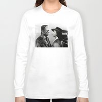 casablanca Long Sleeve T-shirts featuring FRANKENSTEIN IN CASABLANCA by Luigi Tarini