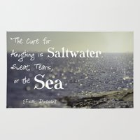 the cure Area & Throw Rugs featuring Saltwater Cure by ShadeTree Photography