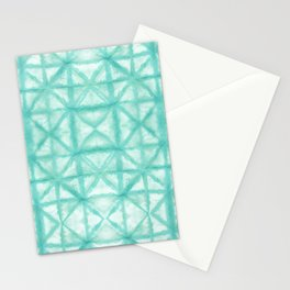 Paper Shibori Aqua Stationery Cards