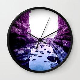 Purple Blue Lagoon Wall Clock