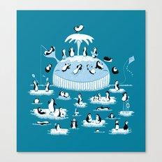 Beach Whale Canvas Print