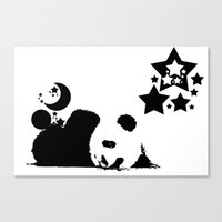 sleep Canvas Prints featuring Sleep by Panda Cool