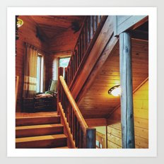 Cabin Staircase Art Print