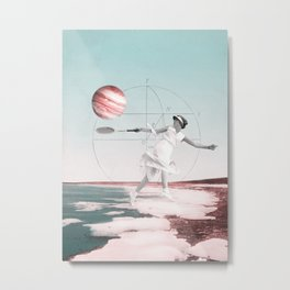 Tennis player and jupiter Metal Print