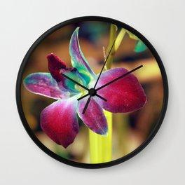 Dendrobium Orchid Wall Clock