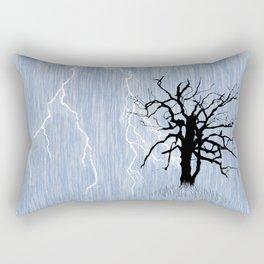 Gnarled Tree and Lightning Rectangular Pillow