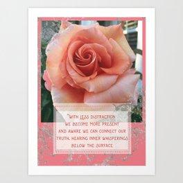 Rose inspirational Art Print