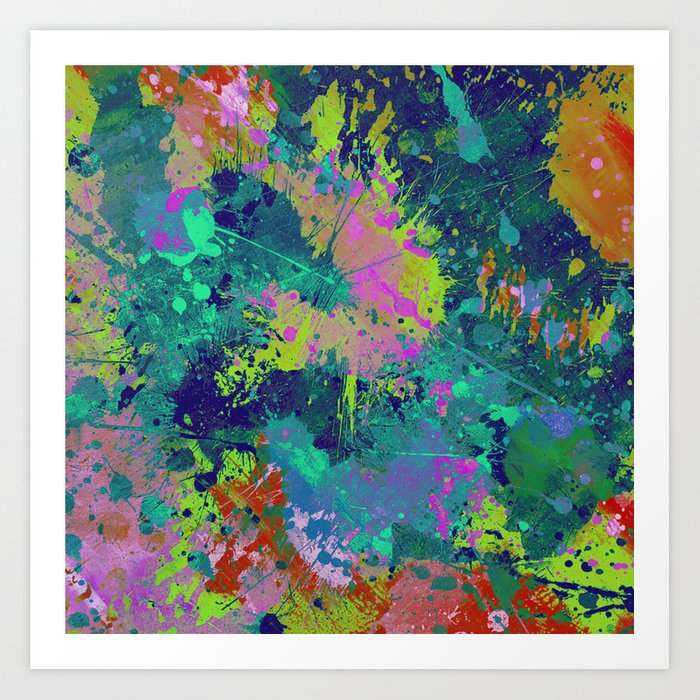 messy art i abstract paint splatter painting random chaotic and