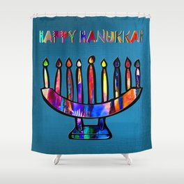 Happy Hanukkah! Shower Curtain