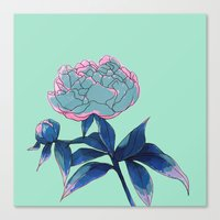 peony Canvas Prints featuring Peony by Ludovic Jacqz