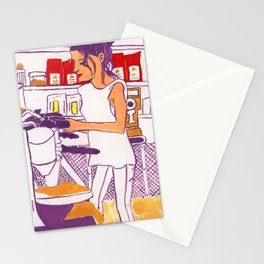 Barista Girl Stationery Cards