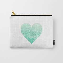 SEAFOAM HEART Carry-All Pouch