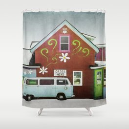 Order Here Shower Curtain