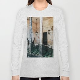 Coffee and frescoes in ex-hacienda in Mexico Long Sleeve T-shirt