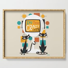Dig Those Crazy Cats Serving Tray