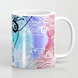 Bohemian Secret Blue & Pink Mandala Design Coffee Mug