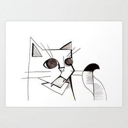 Chinaski the Cat Art Print
